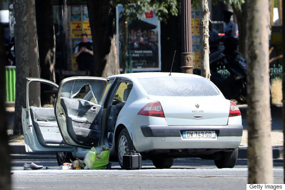 champs elysees car attack