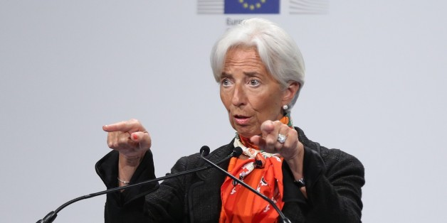 BRUSSELS, BELGIUM - JUNE 7: International Monetary Fund Managing Director Christine Lagarde delivers a speech during a ceremony within European Development Days 2017 in Brussels, Belgium on June 7, 2017. (Photo by Dursun Aydemir/Anadolu Agency/Getty Images)