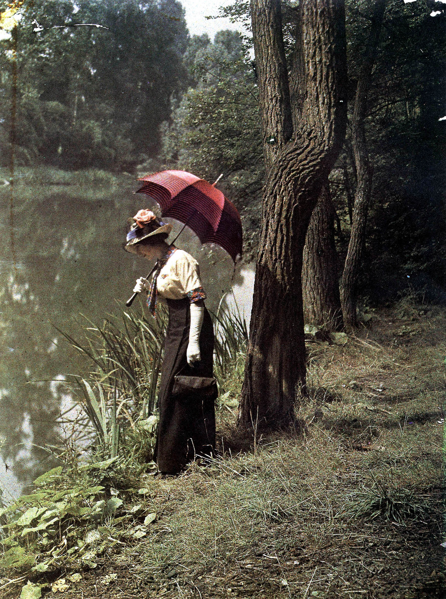 woman by a pond