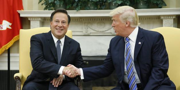 Trump trifft den Präsidenten von Panama – und sagt das Erste, das ihm in den Sinn kommt