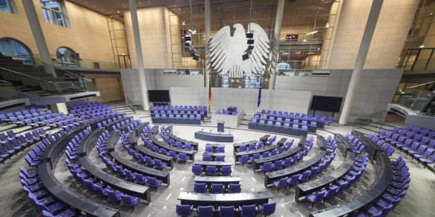 This is the room where the German Bundestag, or Parliament meets. Reichstag building. Berlin, Germany