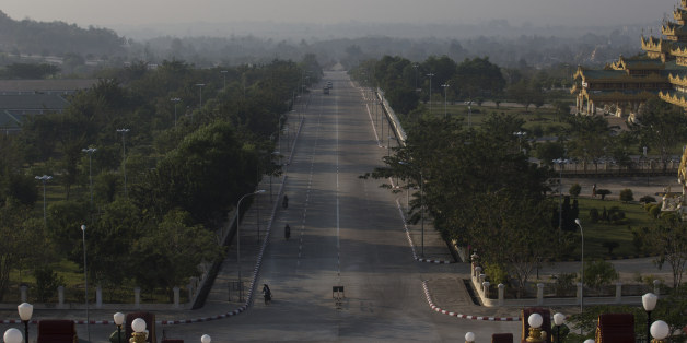 A highway is seen from the Uppatasanti Pagoda in Naypyidaw, Myanmar, on Wednesday, Feb. 3, 2016. Myanmar's new popularly elected upper house of parliament voted Wednesday in its opening session for an ally of Aung San Suu Kyi to serve as its chairman, bringing the legislature closer to naming a new president. Photographer: Taylor Weidman/Bloomberg via Getty Images