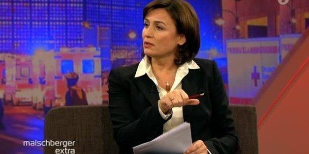 Kann Sandra Maischberger der Diskussion Herrin werden?