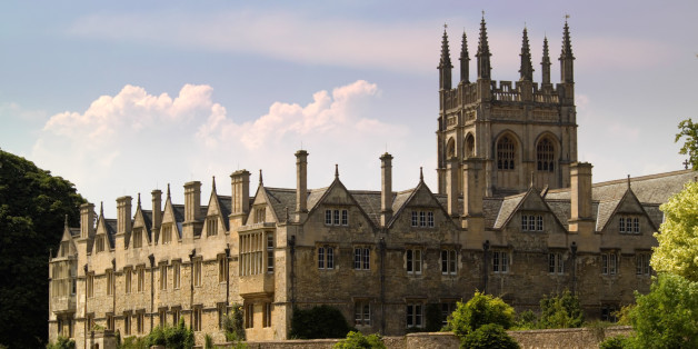 An Oxford University College building, afternoon sun.