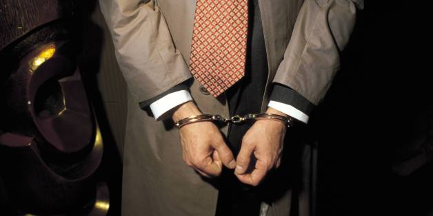 Person under arrest with handcuffs Detail of the handcuffed hands of a man under arrest  (Photo by Matias Nieto/Cover/Getty Images)