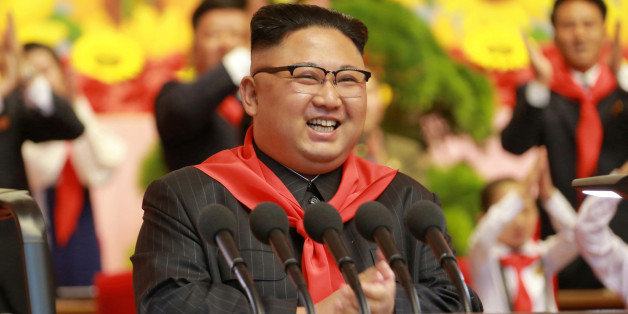 North Korean leader Kim Jong Un reacts during the 8th Congress of the Korean Children's Union (KCU) at the April 25 House of Culture in this undated photo released by North Korea's Korean Central News Agency (KCNA) in Pyongyang June 7, 2017. REUTERS/KCNA   ATTENTION EDITORS - THIS PICTURE WAS PROVIDED BY A THIRD PARTY. REUTERS IS UNABLE TO INDEPENDENTLY VERIFY THE AUTHENTICITY, CONTENT, LOCATION OR DATE OF THIS IMAGE. FOR EDITORIAL USE ONLY. NOT FOR SALE FOR MARKETING OR ADVERTISING CAMPAIGNS. N