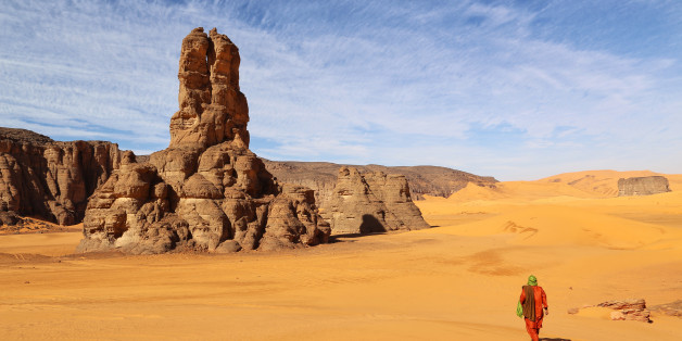 The Famous 'Moul Nagga' rock in the Algerian Sahara near the borders with Libya and Niger.