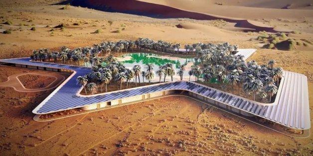 Das Oasis Eco Resort soll in der Liwa-Oase entstehen
