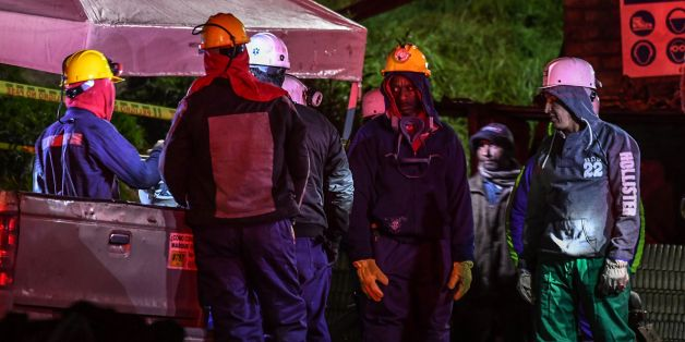 A miners gestures during search operations outside of 'La Guasca' mine in a rural area of Cucunuba, Cundinamarca department on June 24, 2017. An explosion at a central Colombian coal mine killed at least two people, as rescuers scrambled to find another 11 who are still missing, authorities said, updating earlier figures. / AFP PHOTO / Luis Acosta        (Photo credit should read LUIS ACOSTA/AFP/Getty Images)