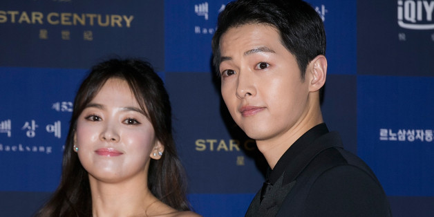 SEOUL, SOUTH KOREA - JUNE 03:  South Korean actors Song Hye-Kyo and Song Joong-Ki attend the 52th Paeksang Arts Awards on June 3, 2016 in Seoul, South Korea.  (Photo by Han Myung-Gu/WireImage)