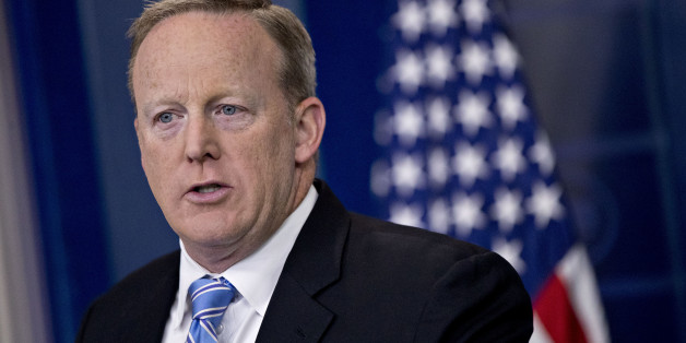 Sean Spicer, White House press secretary, speaks during a press briefing at the White House in Washington, D.C., U.S., on Monday, June 26, 2017. The U.S. Supreme Court cleared much of President Donald Trump's travel ban to take effect this week and agreed to hear arguments in the fall, giving the president at least partial vindication for his claims of sweeping power over the nations borders. Photographer: Andrew Harrer/Bloomberg via Getty Images