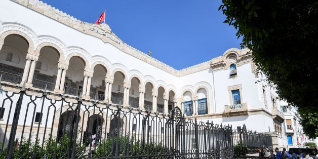 A picture taken May 26, 2017 shows a general view of the exterior of the Tunis courthouse where the first public hearing was held for the trial of 33 people in connection with the jihadist beach massacre at the eastern city of Sousse killed dozens of foreign tourists in 2015. / AFP PHOTO / FETHI BELAID        (Photo credit should read FETHI BELAID/AFP/Getty Images)