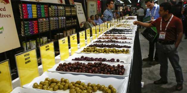 NEW YORK, NY - JUNE 27:  Products are displayed at the Annual Summer Fancy Food Show at the Javits Center in Manhattan on June 27, 2016 in New York City.  (Photo by VIEW press/Corbis via Getty Images)