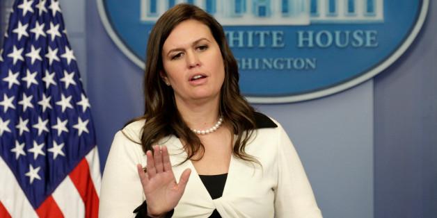 Die Pressesprecherin des Weißen Hauses Sarah Huckabee ließ kein gutes Haar an den Medien.