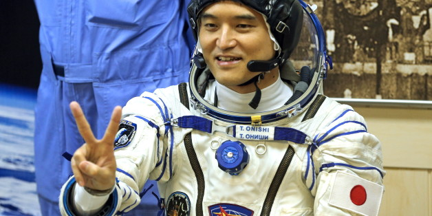 KAZAKHSTAN - JULY 7, 2016: Japanese austronaut Takuya Onishi (JAXA), a member of the main crew of ISS Expedition 48/49, in a space suit ahead of the launch of a Soyuz FG rocket carrying the Soyuz MS-01 spacecraft to the International Space Station. Marina Lystseva/TASS (Photo by Marina Lystseva\TASS via Getty Images)