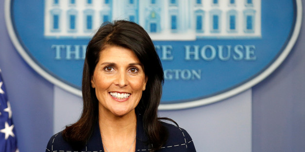 U.S. Ambassador to the United Nations Nikki Haley speaks during a press briefing at the White House in Washington, U.S., April 24, 2017.      REUTERS/Joshua Roberts