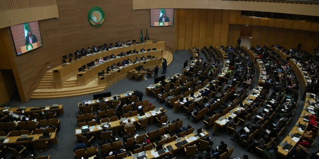 ADDIS ABABA, ETHIOPIA - JUNE 30: General view of the 29th African Union Summit at African Union Conference Center and Office Complex in Addis Ababa, Ethiopia on June 30, 2017. Summit began with the 34th Committee of Permanent Representatives. Many representatives from African countries attended the summit. (Photo by Minasse Wondimu Hailu/Anadolu Agency/Getty Images)