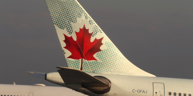 TORONTO - MAY 13: The tail end of an Air Canada airplane is seen at Toronto Pearson International Airport in Toronto, Canada on May 13, 2017. (Photo by Gary Hershorn/Getty Images)