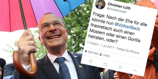 AfD-Pressesprecher schießt mit widerlichem Tweet gegen Grünen-Politiker Volker Beck.