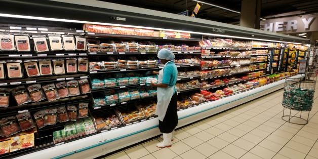 Un supermarché au Cap, en Afrique du Sud.