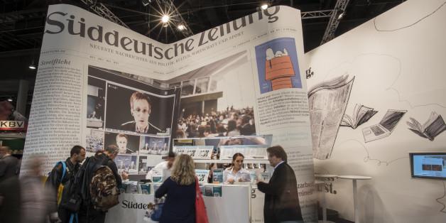 Die Süddeutsche Zeitung bei einer Messe