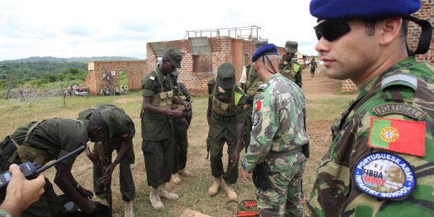 Des soldats portugais en ouganda, 2012.