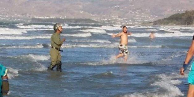 Manifestants et policiers dans l'eau à Al Hoceima: Twitter s'emballe