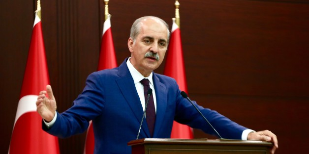 ANKARA, TURKEY - JULY 3: Turkish Deputy Prime Minister and government spokesperson Numan Kurtulmus gives a speech during a press conference after the cabinet meeting in Ankara, Turkey on July 3, 2017.