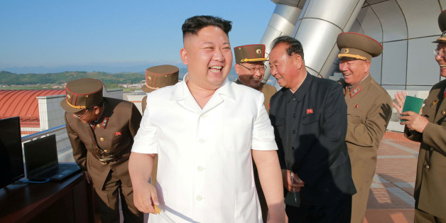 North Korean leader Kim Jong Un reacts after doing a test-fire of new cruise rocket in this undated photo released by North Korea's Korean Central News Agency (KCNA) May 30, 2017. KCNA/via REUTERS ATTENTION EDITORS - THIS IMAGE WAS PROVIDED BY A THIRD PARTY. EDITORIAL USE ONLY. REUTERS IS UNABLE TO INDEPENDENTLY VERIFY THIS IMAGE. NO THIRD PARTY SALES. SOUTH KOREA OUT.