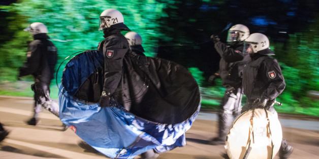 Die Polizei räumte am Sonntag in Hamburg ein Protest-Camp von G20-Gegnern.
