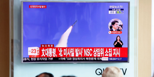 SEOUL, SOUTH KOREA - JULY 04:  People watch a television broadcast reporting the North Korean missile launch at the Seoul Railway Station on July 4, 2017 in Seoul, South Korea. North Korea fired an unidentified ballistic missile on Tuesday from a location near the North's border with China into waters at Japan's exclusive economic zone, east of the Korean Peninsula, according to reports. The latest launch have drawn strong criticism from the U.S. and came ahead of a summit of leaders from the Group of 20 countries in Germany later this week.  (Photo by Chung Sung-Jun/Getty Images)