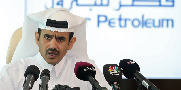 President and Chief Executive Officer of Qatar Petroleum, Saad Sherida al-Kaabi, speaks during a press conference in Doha, on April 3, 2017.Energy giant Qatar Petroleum is to launch a new project in the world's biggest gas field, boosting its output by up to 10 percent, it said. / AFP PHOTO / KARIM JAAFAR        (Photo credit should read KARIM JAAFAR/AFP/Getty Images)