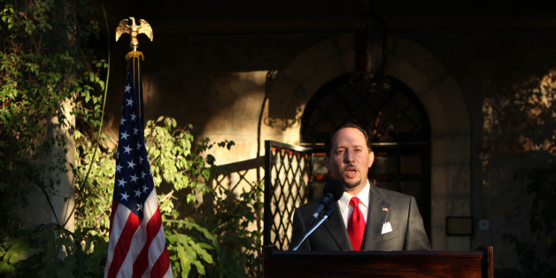 US Consul General of Jerusalem Daniel Rubinstein delivers a speech during a reception for the upcoming American Independence Day on 4th of July at the American consulate in Jerusalem on June 30, 2010. AFP PHOTO/GALI TIBBON/POOL (Photo credit should read GALI TIBBON/AFP/Getty Images)
