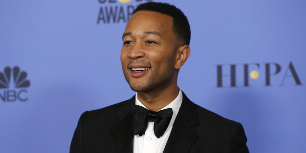 John Legend poses backstage after presenting an award during the 74th Annual Golden Globe Awards in Beverly Hills, California, U.S., January 8, 2017.  REUTERS/Mario Anzuoni