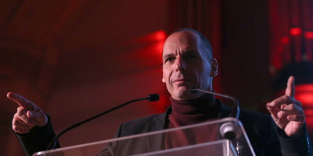 Greece's former Finance Minister Yanis Varoufakis speaks at a Trade Union Co-ordinating Group event in London, Britain November 21, 2015. REUTERS/Neil Hall