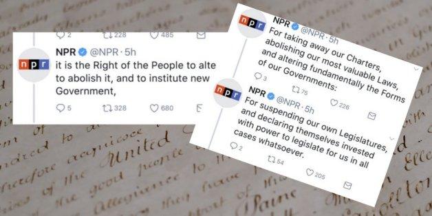 Ein Radiosender twittert die Unabhängigkeitserklärung - dann rasten Trump-Fans völlig aus