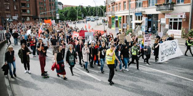 Die ersten Demonstrationen zum G20-Gipfel waren ein voller Erfolg -und friedlich.