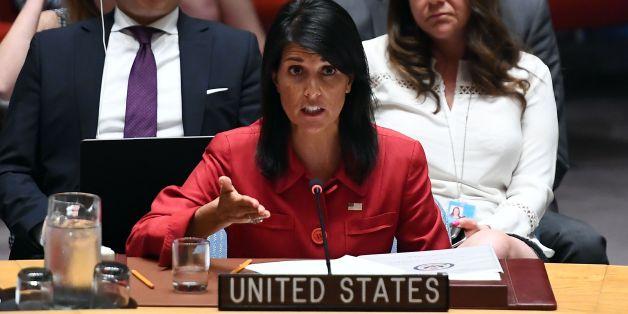 Nikki Haley sprach am Mittwoch vor dem UN-Sicherheitsrat in New York.