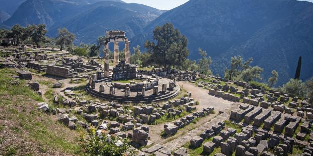 The Temple of Athena, Delphi, Greece