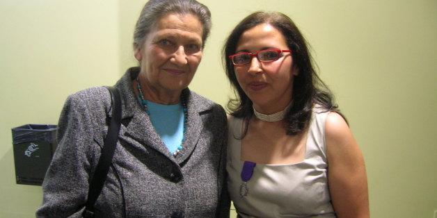 Simone Veil et Samia Essabaa, collaboratrice et amie de l'ancienne ministre de la Santé.