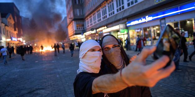 Ein einziges Foto zeigt den ganzen Wahnsinn der Krawalle in Hamburg