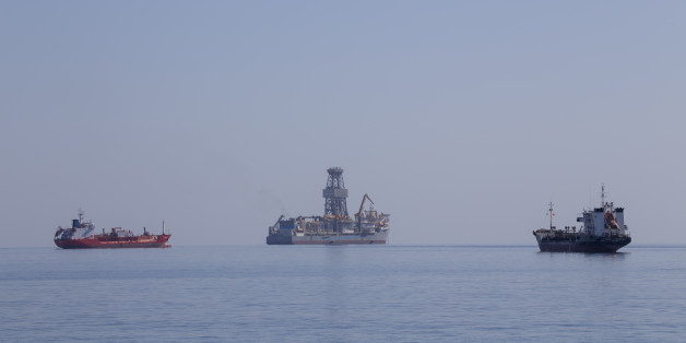 LIMASSOL, CYPRUS - NOVEMBER 04: The drillship Pacific Khamsin on November 04, 2016 in Limassol, Cyprus.Total will likely commence exploring for gas in their offshore Block 11 concession in early 2017.Noble Energy received the concession to explore block 12 in October 2008. In August 2011, Noble entered into a production-sharing agreement with the Cypriot government regarding the block's commercial development. The Cyprus A gas field is a Cypriot natural gas field that was discovered in 2011. It will begin production in 2015 and will produce natural gas and condensates. The total proven reserves of the Cyprus A gas field are around 7 trillion cubic feet and production is slated to be around 300 million cubic feet/day. (Photo by Athanasios Gioumpasis/Getty Images)