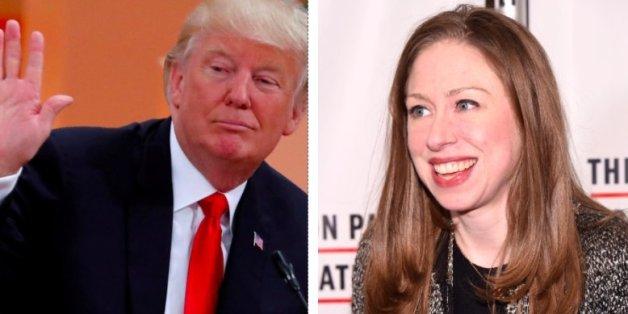 Donald Trump und Chelsea Clinton gingen auf Twitter aufeinander los.