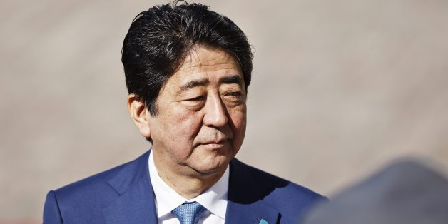 Japanese Prime Minister Shinzo Abe arrives for a welcoming ceremony in front of the Presidential Palace in Helsinki, on July 10, 2017 ahead of a meeting with Finish President. / AFP PHOTO / Lehtikuva / Roni Rekomaa / Finland OUT        (Photo credit should read RONI REKOMAA/AFP/Getty Images)