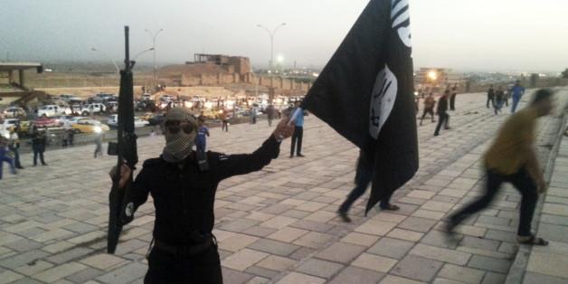 Un combattant de Daech à Mossoul, Irak, 2014.