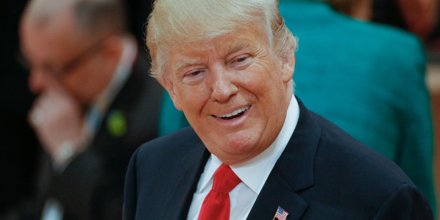 President of the United States Donald Trump is seen ahead of the thrid plenary session of the G20 summit on 8 July, 2017 in Hamburg, Germany. (Photo by Jaap Arriens/NurPhoto via Getty Images)