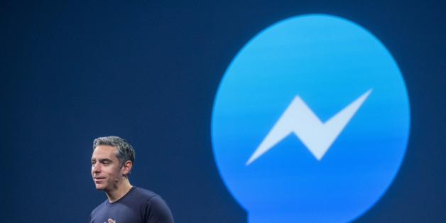 David Marcus, vice president of messaging products at Facebook Inc., speaks during the Facebook F8 Developers Conference in San Francisco, California, U.S., on Wednesday, March 25, 2015. Facebook Inc. is opening up its Messenger chat application, letting developers create software for people to add photos, videos and other enhancements to their online conversations. Photographer: David Paul Morris/Bloomberg via Getty Images
