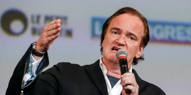 Director Quentin Tarantino speaks at the opening day of the Lumiere Festival in Lyon, France, October 8, 2016. REUTERS/Robert Pratta
