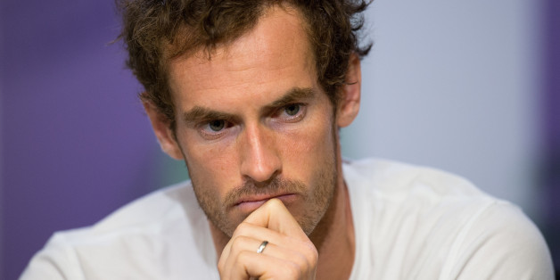 Tennis - Wimbledon - London, Britain - July 12, 2017  Great Britain's Andy Murray during a press conference after losing his quarter final match against Sam Querrey of the U.S.   REUTERS/Joe Toth/Pool