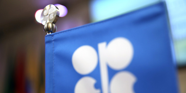 An OPEC flag stands on the desk during a news conference following the 172nd Organization of Petroleum Exporting Countries (OPEC) meeting in Vienna, Austria, on Thursday, May 25, 2017. OPEC extended oil production cuts for nine more months after last year's landmark agreement failed to eliminate the global oversupply or achieve a sustained price recovery. Photographer: Akos Stiller/Bloomberg via Getty Images